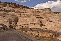 Hairpin Turn on Utah Highway. This is a picture of a hairpin turn on Utah's Highway 12 stock photo