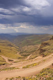 Hairpin turns in the Sani Pass in South Africa Royalty Free Stock Photography