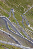 Hairpin turns, Stelvio pass Stock Photo
