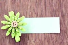 Hairpins зеленой бумаги картины и примечания цветка Стоковые Изображения