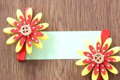 Hairpins красного смешивания желтеют бумагу картины и примечания Стоковая Фотография RF