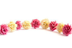 Hairpins. With colours on a white background Royalty Free Stock Photography