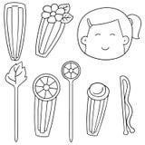 hairpins royalty ilustracja