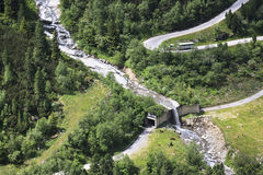 Hairpins in the Alpenstrasse Zillergrund, Austria Stock Photo