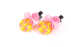 Hairpins. Colourful isolated on white background Royalty Free Stock Image