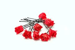 Hairpins for hair c roses Royalty Free Stock Image