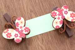 Hairpins pattern of brown butterfly. Stock Images