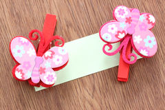 Hairpins pattern of pink butterfly. Stock Photo