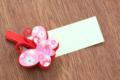 Hairpins pattern of pink butterfly. Stock Image