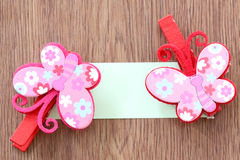 Hairpins pattern of pink butterfly. Stock Photography