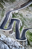 Hairpins at the Stelvio Pass Road Stock Photos