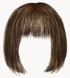 Hairs brown colors .kare fringe Stock Photos