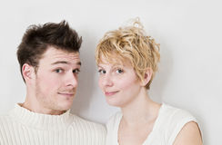Young Couple Looking at the camera. Stock Images