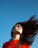 Hairs on the wind Royalty Free Stock Images