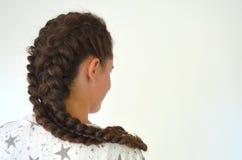Hairstyle στο μέσο μήκος στοκ φωτογραφία
