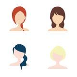 hairstyle stock illustratie