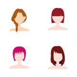 hairstyle royalty-vrije illustratie