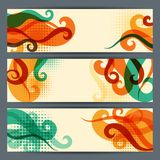 Hairstyle abstract horizontal banners set.  Royalty Free Stock Photo