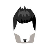 Hairstyle beard and hair face cut mask flat cartoon vector. Royalty Free Stock Photos