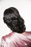 Hairstyle beautiful indian girl Stock Photos