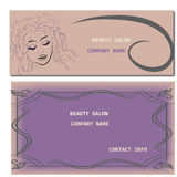 Hairstyle CARD FOR BEAUTY SALON IN VECTOR WITH BEAUTIFUL GIRL Royalty Free Stock Images
