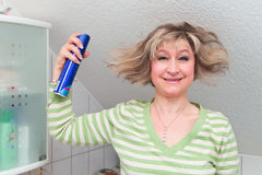 Hairstyle disaster Stock Images