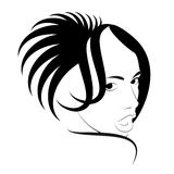 Hairstyle fashion. Art of a hairdress. Haute couture in vector figure stock illustration