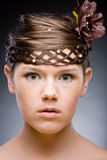 Hairstyle. Focus on eyes Royalty Free Stock Photo