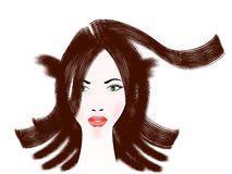 Hairstyle girl. Royalty Free Stock Photo