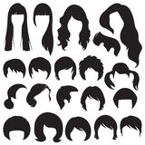 Hairstyle. Hair silhouettes, woman and man hairstyle