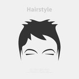Hairstyle icon Royalty Free Stock Images