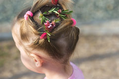 Hairstyle little girl Royalty Free Stock Photos