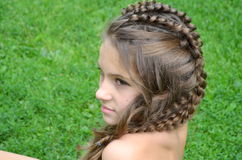 Hairstyle with long hair Royalty Free Stock Photos