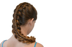 Hairstyle with long hair Royalty Free Stock Image