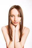 Hairstyle and make-up Royalty Free Stock Photos