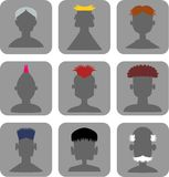 Hairstyle Men - Web Icon Set Stock Image