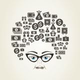 Hairstyle money Stock Image