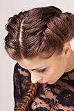 Hairstyle portrait Stock Photography