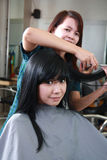 Hairstyle in salon Stock Photography