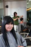 Hairstyle in salon Stock Photos
