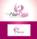 Hairstyle Salon Logo Design Royalty Free Stock Images