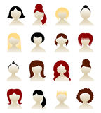 Hairstyle set Royalty Free Stock Image