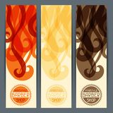 Hairstyle vertical banners Royalty Free Stock Image