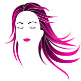 Hairstyle women Stock Image