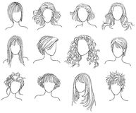 Hairstyles Royalty Free Stock Photography