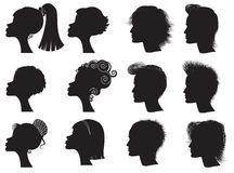 Hairstyles Royalty Free Stock Images