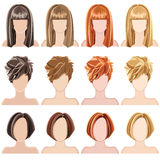 hairstyles stock illustratie