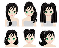 Hairstyles for black hair Royalty Free Stock Image