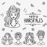 Hairstyles black Stock Photo