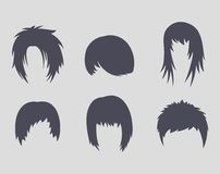 Hairstyles icons Royalty Free Stock Image